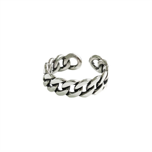 Link Chain Ring Silver