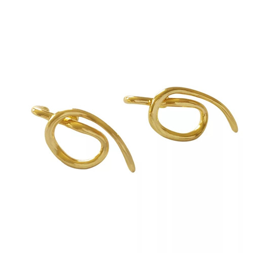 Abstract Gold Stud Earring