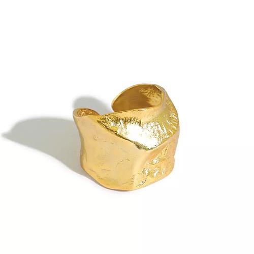 Rock Mineral Irregular Concave Ring