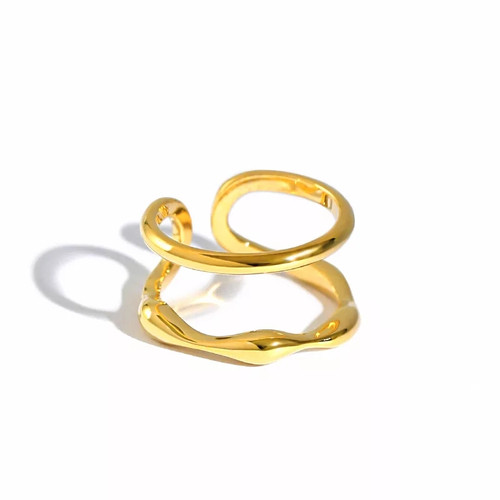Double Layer Bamboo Ring