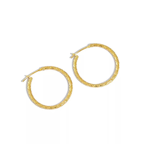 Cross Detail Hoop Earring