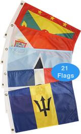 Eastern Caribbean Sea Courtesy Flag Set