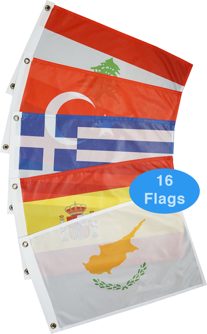 Mediterranean Sea Courtesy Flag Set