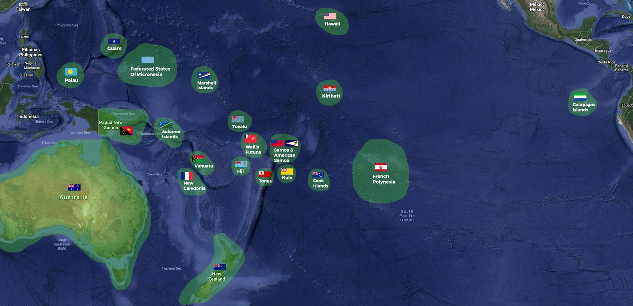 Pacific Ocean Courtesy Flag Set