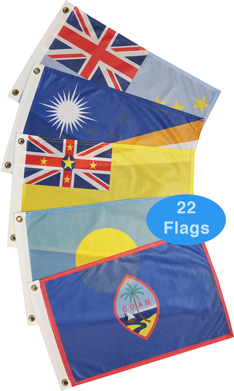 Pacific Ocean Courtesy Flag Set
