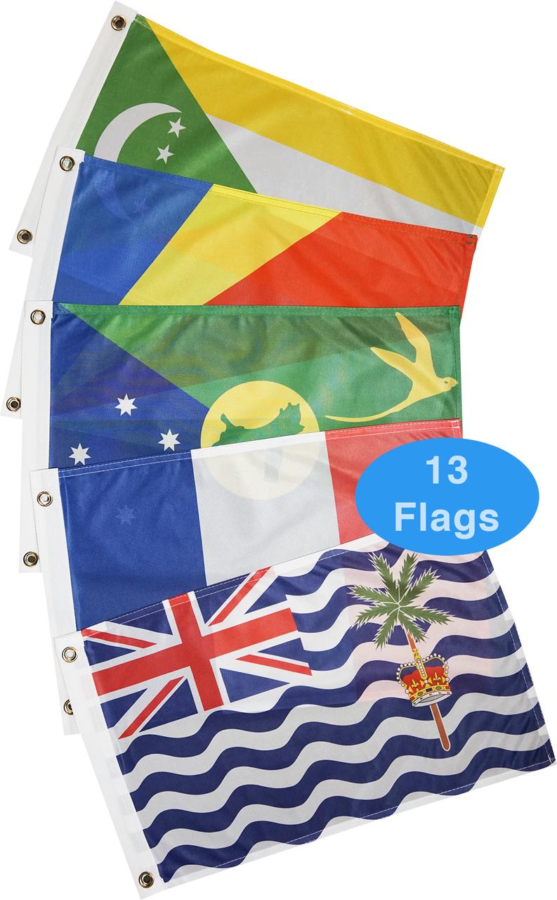 South Indian Ocean Courtesy Flag Set