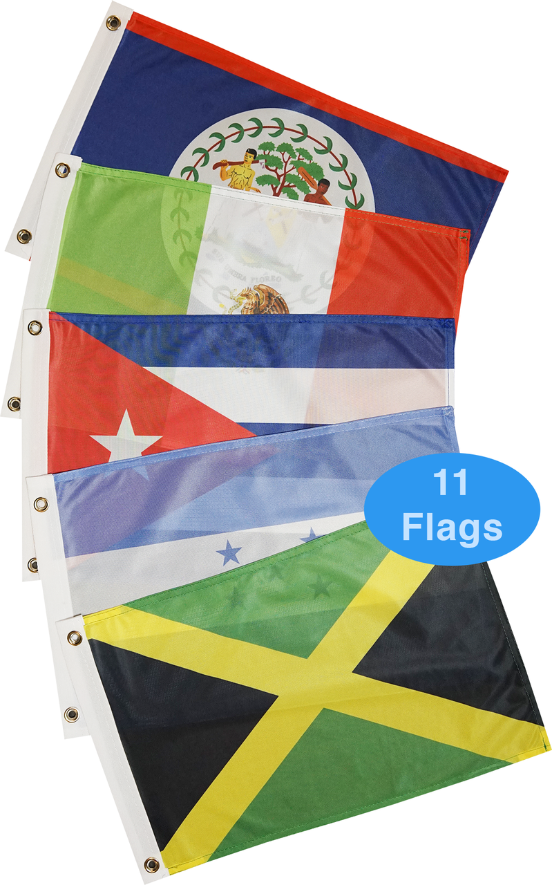Western Caribbean Sea Courtesy Flag Set