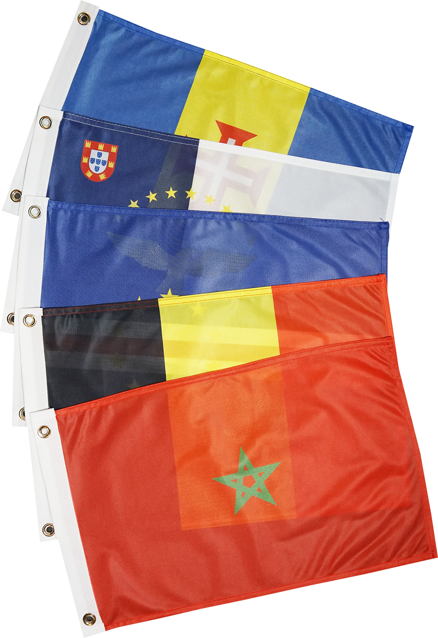 Europe Atlantic Coast and Islands Courtesy Flag Set