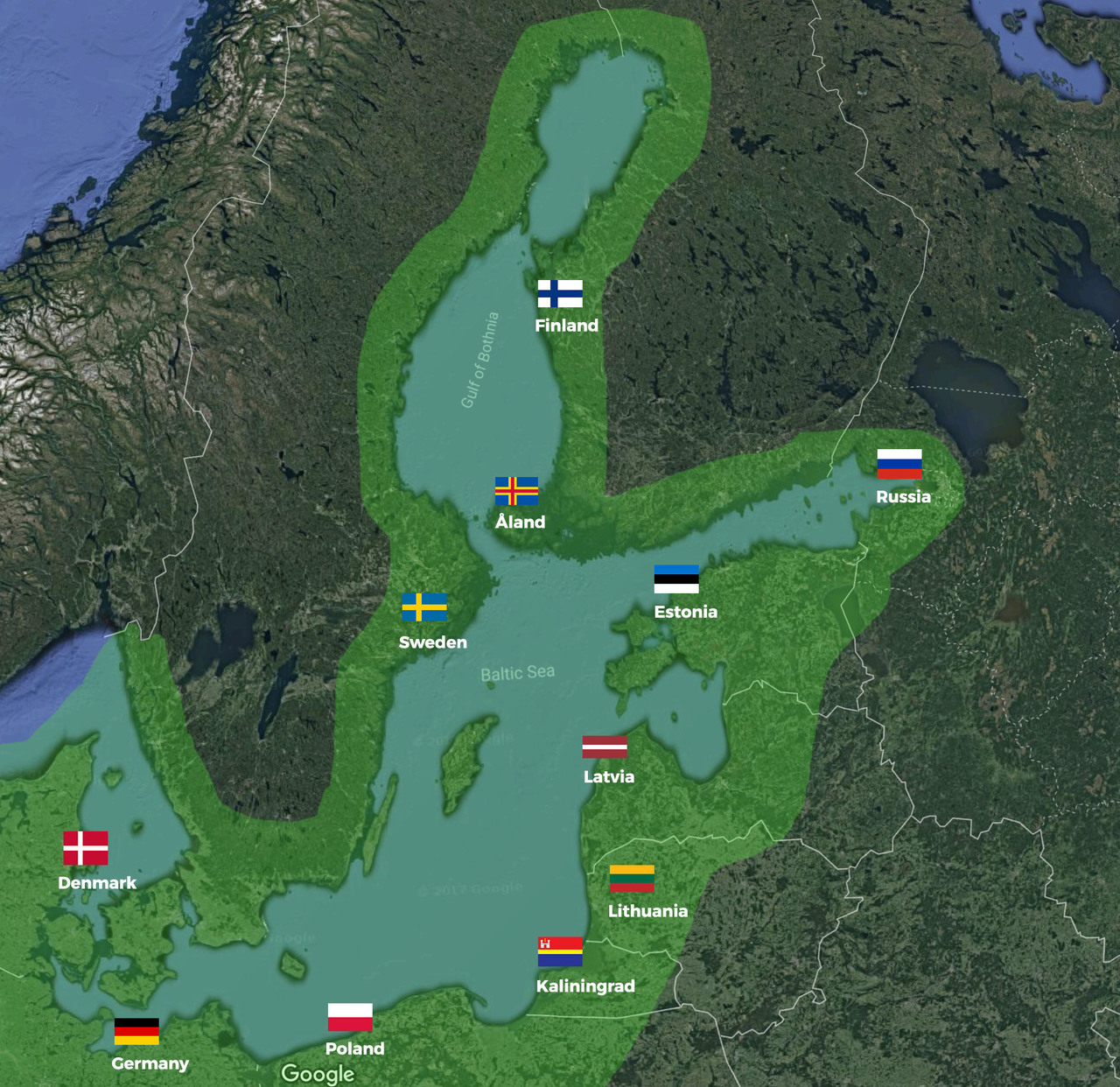Europe Baltic Sea Courtesy Flag Set
