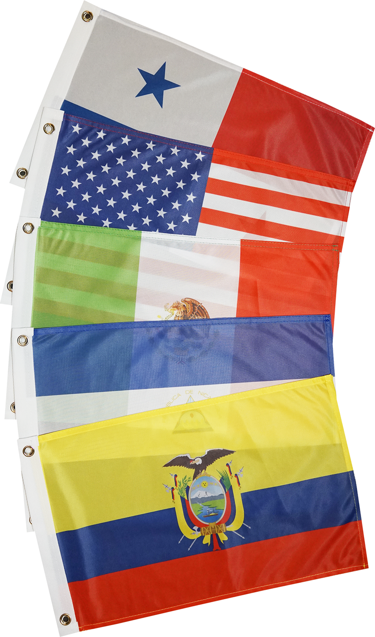 West Coasts of Americas Courtesy Flag Set