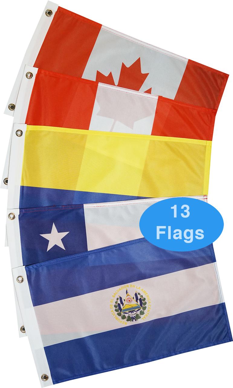 West Coasts of Americas Courtesy Flag Set
