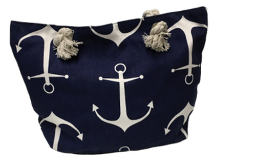 ANCHORS  ALL OVER CANVAS BAG