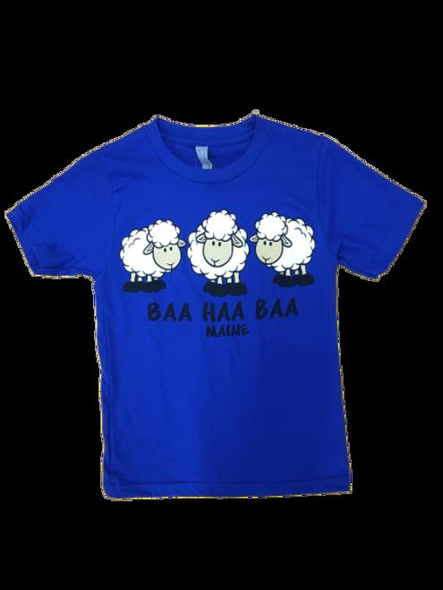 YOUTH BAA-HAA-BAA T-SHIRT BLUE