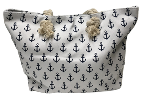 ANCHOR CANVAS BAG WHITE