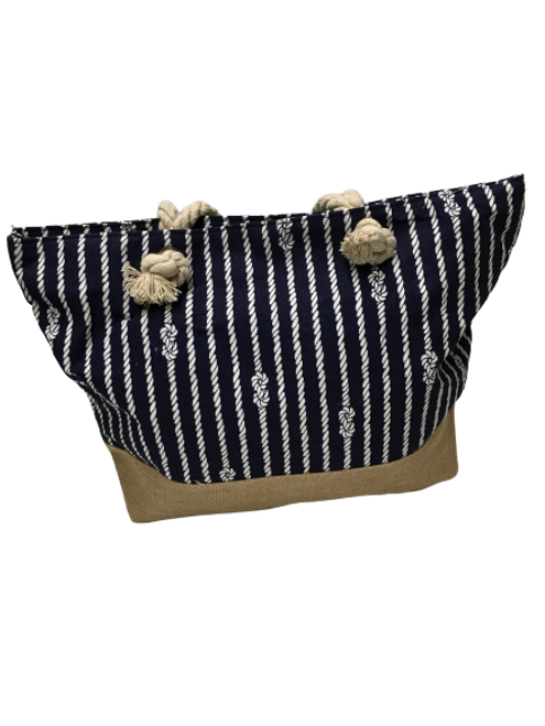 STRIPE ROBE CANVAS BAG
