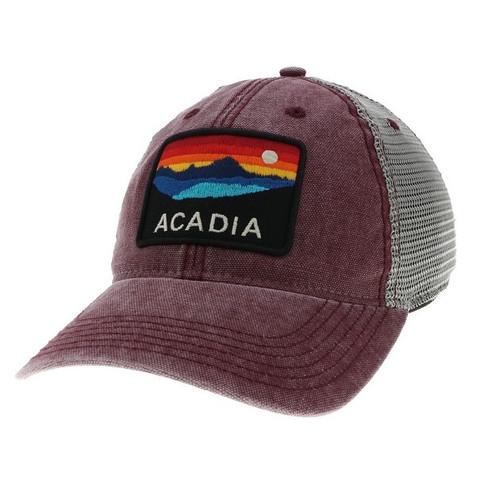 BURGUNDY/GREY TRUCKER DTA ACADIA HORIZO HAT-1077886