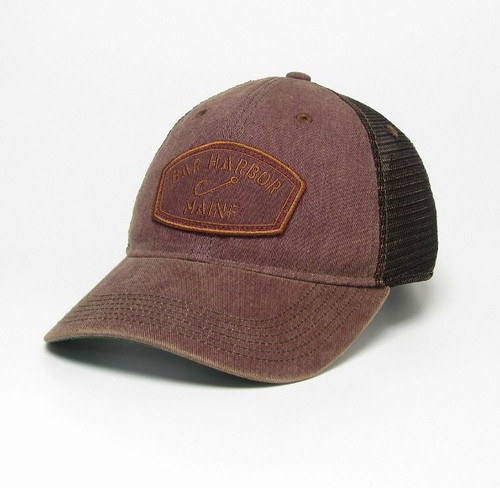 BURGUNDY GREASER TRUCKER OFA BAR HARBOR HAT -1151024