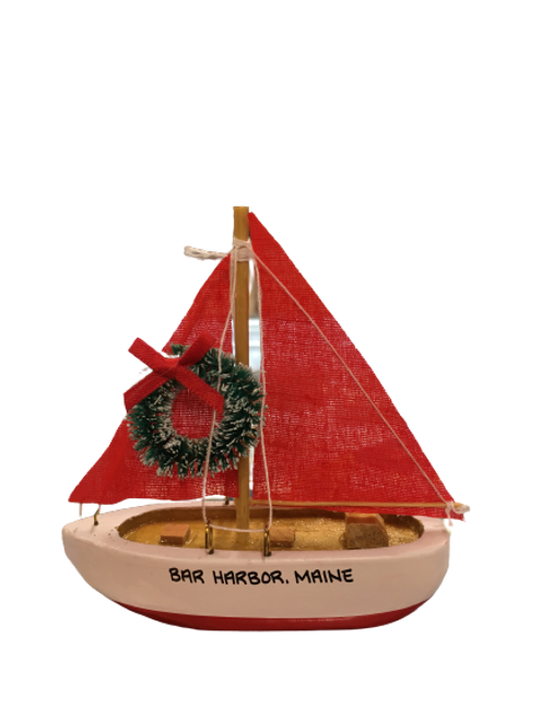 RED SAILBOAT ORNAMENT