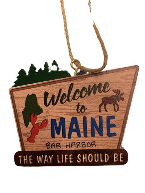 WELCOME TO MAINE ORNAMENT