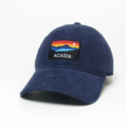 Navy Relaxed Corduroy Hat