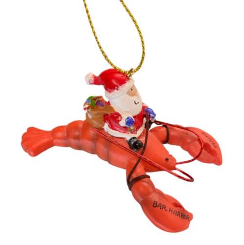 Santa Riding Lobster ornament