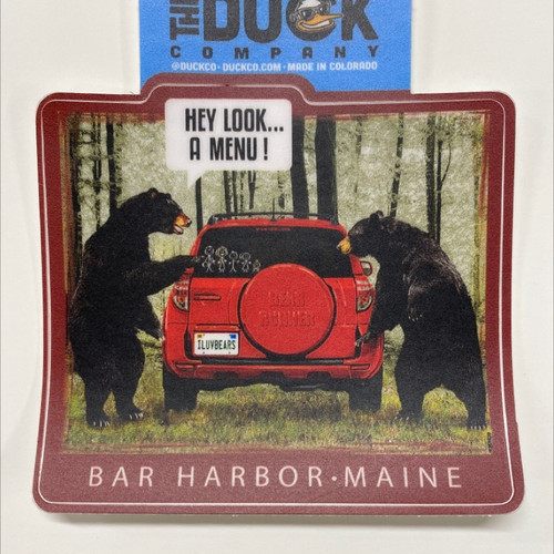 Bear menu sticker