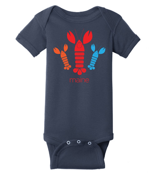 NAVY HAPPY LOBSTER ONSIE
