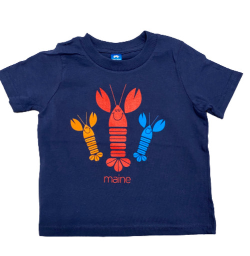 Navy Happy Lobster Infant Tee