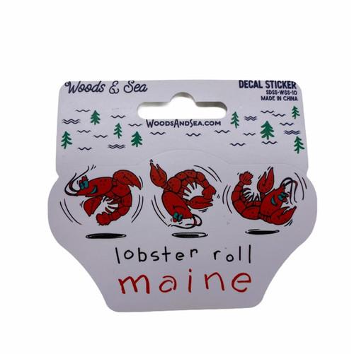 Lobster Roll Maine Sticker