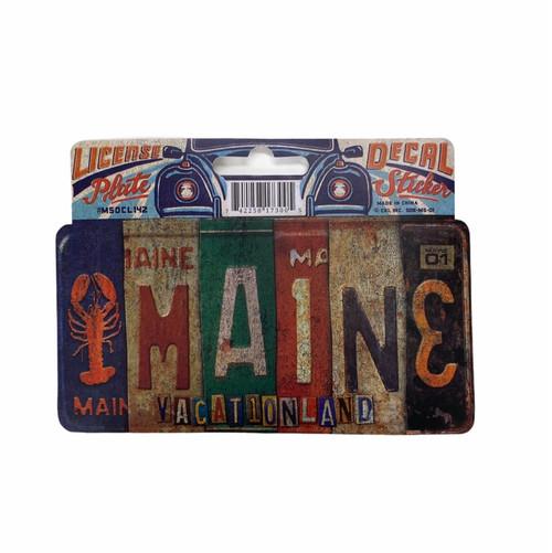 License Plate Maine  Sticker