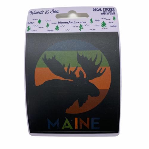 Moose Maine Sticker