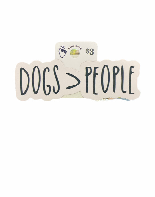 DOG OVER PEOPLE STICKER