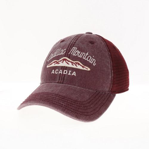 BURGUNDY TRUCKER CADILLAC MOUNTAIN HAT