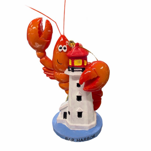 LIGHTHOUSE WITH LOBSTER ORNAMENT