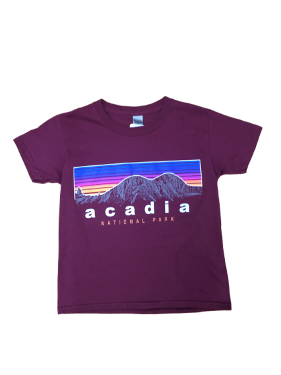 KIDS TEE 6-COLOR CUSTUM ART ACADIA  - MAROON