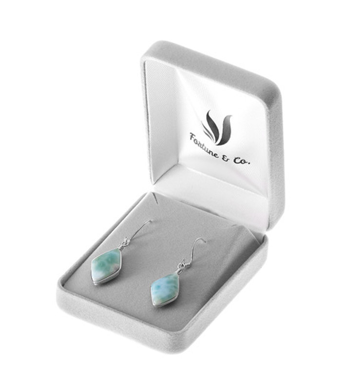 DIAMOND CUT LARIMAR EARRINGS