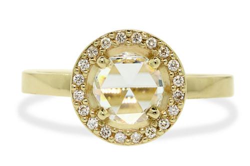 .87 Carat White Diamond Ring with Diamond Halo