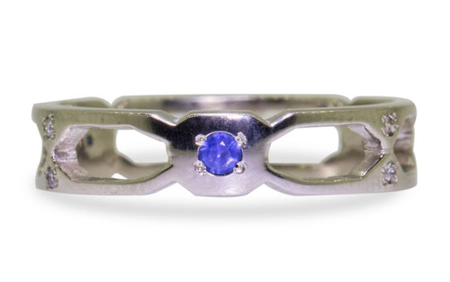Deco Infinity Band with Blue Sapphires