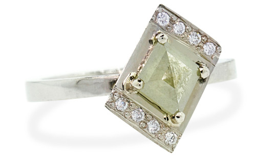 TOBA Ring in White Gold with .75 Carat Gray Diamond