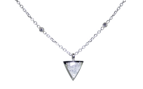 TOBA Necklace in White Gold with .79 Carat Salt and Pepper Diamond