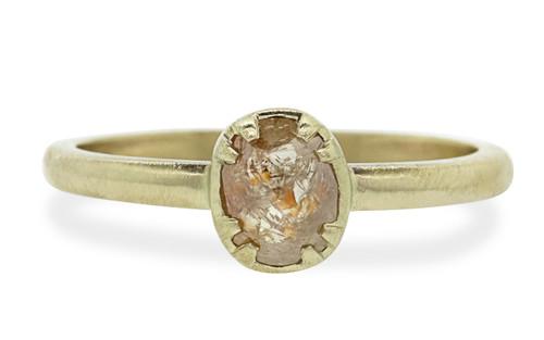.55 Carat Peach Diamond Ring in Yellow Gold