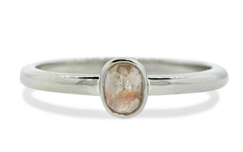 .43 Carat Light Peach Diamond Ring