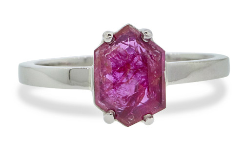 1.26 Carat Ruby Ring in White Gold