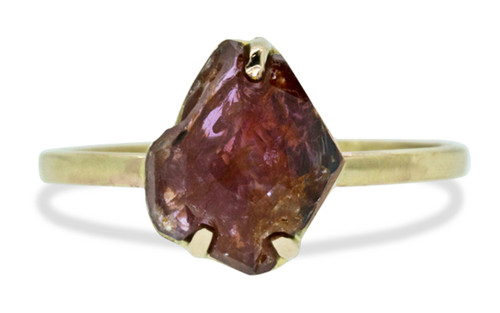 2.43 Carat Hand-Cut Ruby Ring in 10k Yellow Gold