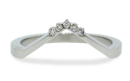 V Shadow Band with White Diamonds
