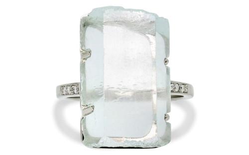 6d29cf0e0 16.83 Carat Aquamarine Crystal Ring in White Gold - CHINCHAR•MALONEY
