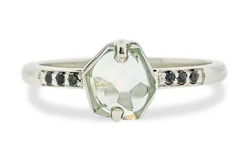 fabbfe8836cfd 1.57 Carat Light Teal Montana Sapphire Ring in White Gold