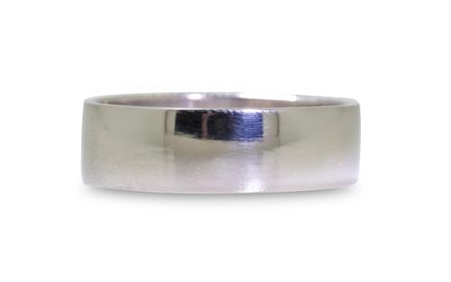 Flat Gold Band- 6.5 mm width