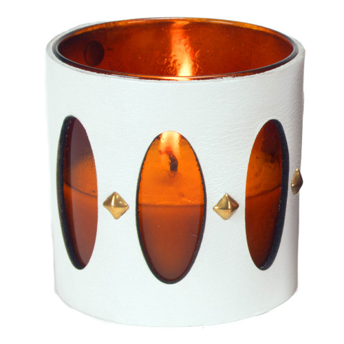 Designer, candle,luxury,scented,gift, leather, high end, quality, handceafted-catherdal-white