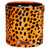 Furry Cheetah Print - Hair on Hide| Leather Wrapped, Luxury Designer Scented Gift Candle